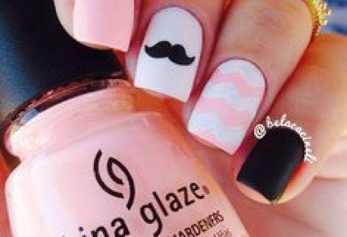 Uñas Decoradas De Rosa Pink Nail Art Uñas Pinterest Uña