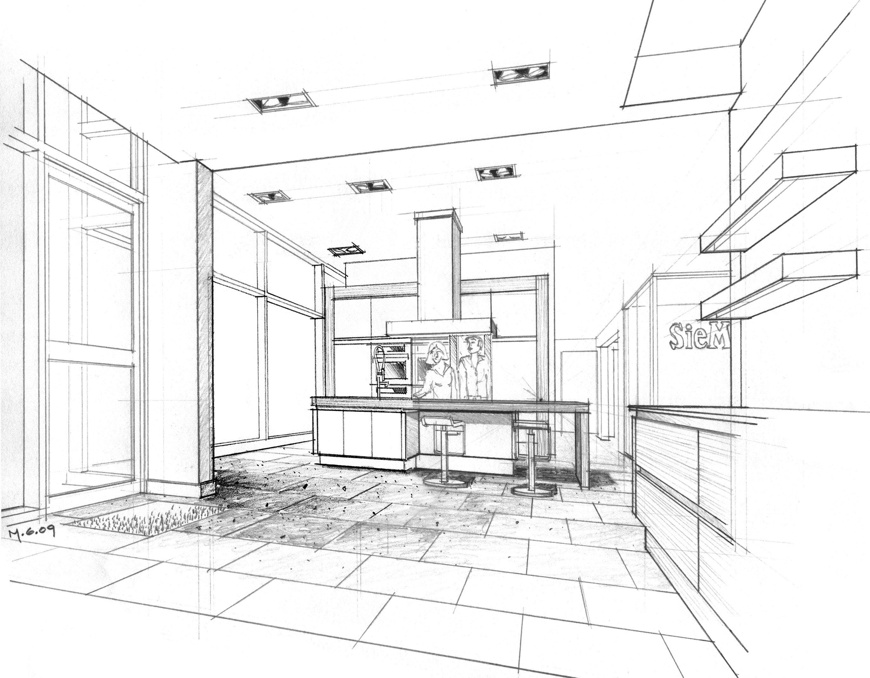 Reception Desk Sketch