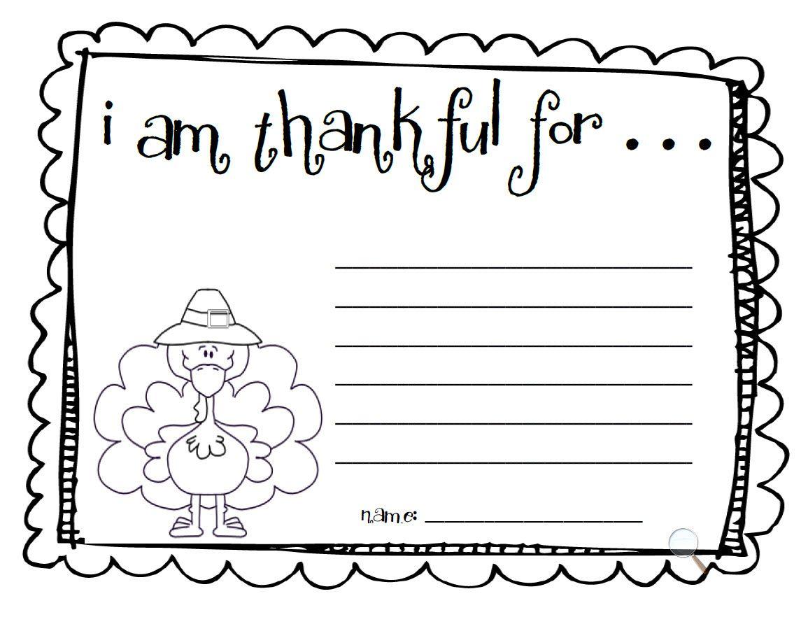 Fun For First Make An I Am Thankful List