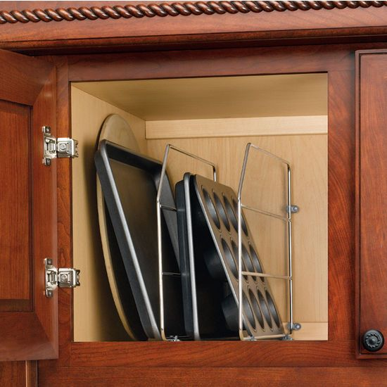 Cabinet Organizers Kitchen Wire Tray Dividers Clips