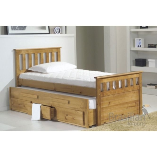Bergamo Bed With Pull Out And Drawers Neelam Pinterest Dreams Beds Wood Design