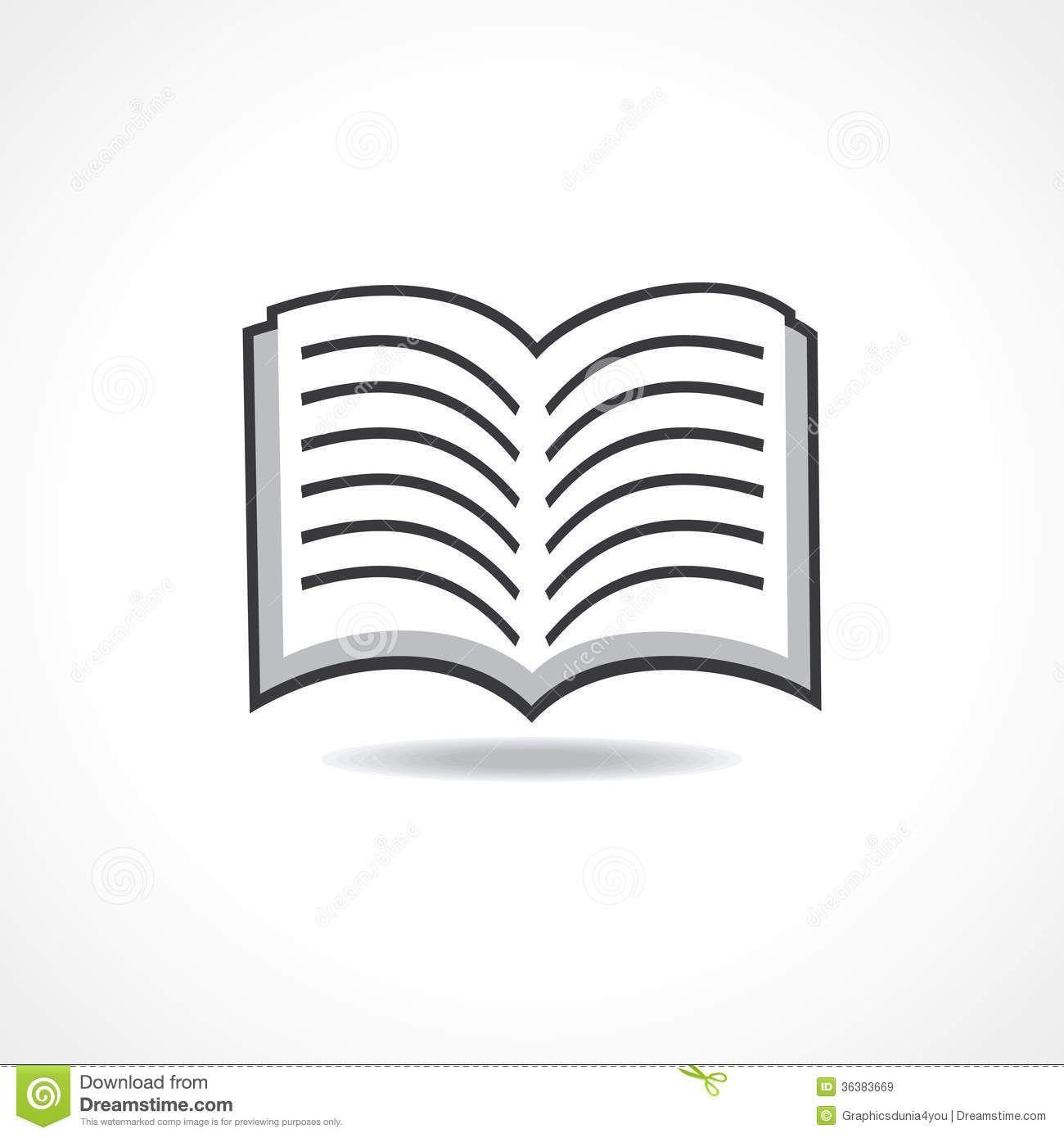 Open Book Vector Icon Stock Vector