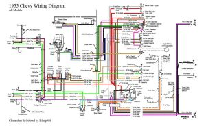 55 Chevy Color Wiring Diagram | 1955 Chevrolet | Pinterest