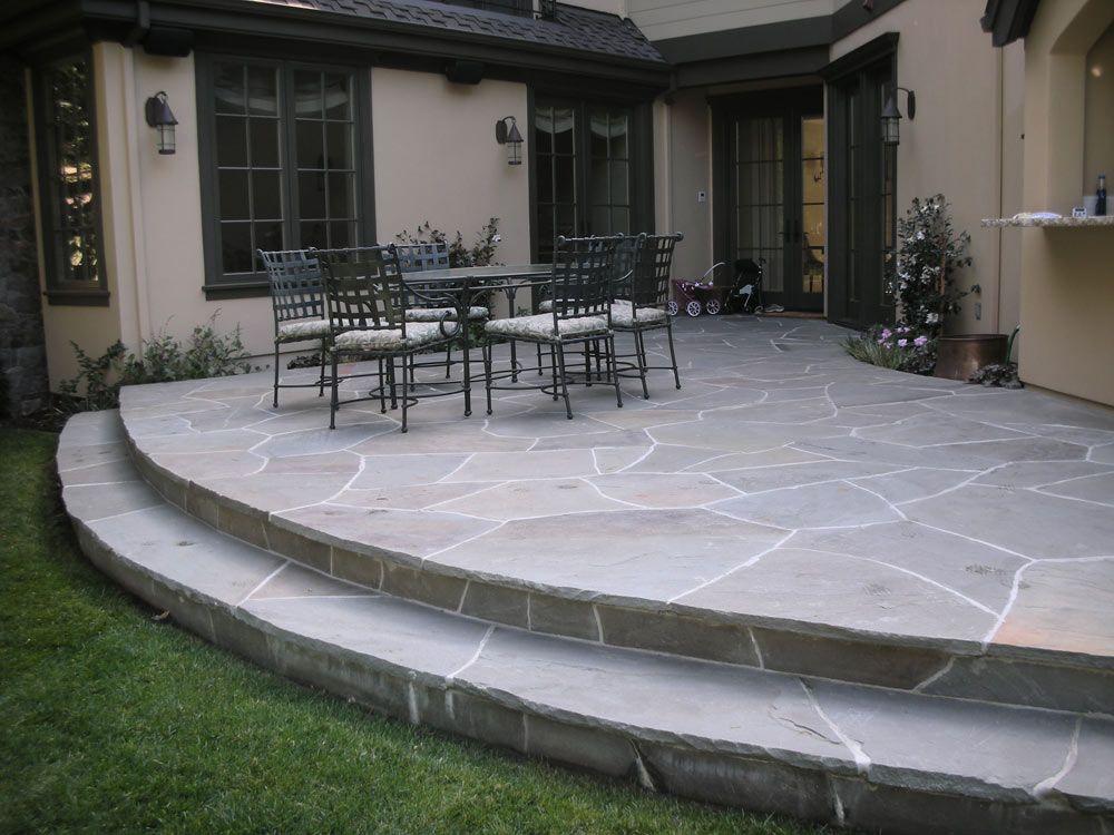 Like the raised patio, stone | Backyard | Pinterest ... on Raised Concrete Patio Ideas id=21854