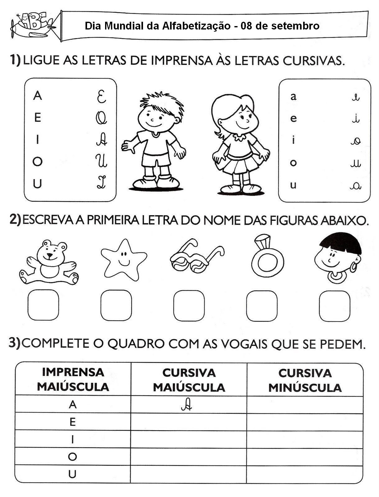 Alfabetizacao Dia Mundial Atividades Desenhos Colorir Imprimir 63