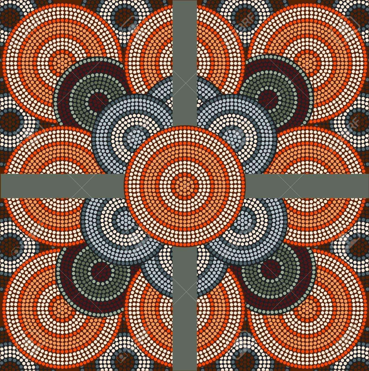 A Illustration Based On Aboriginal Style Of Dot