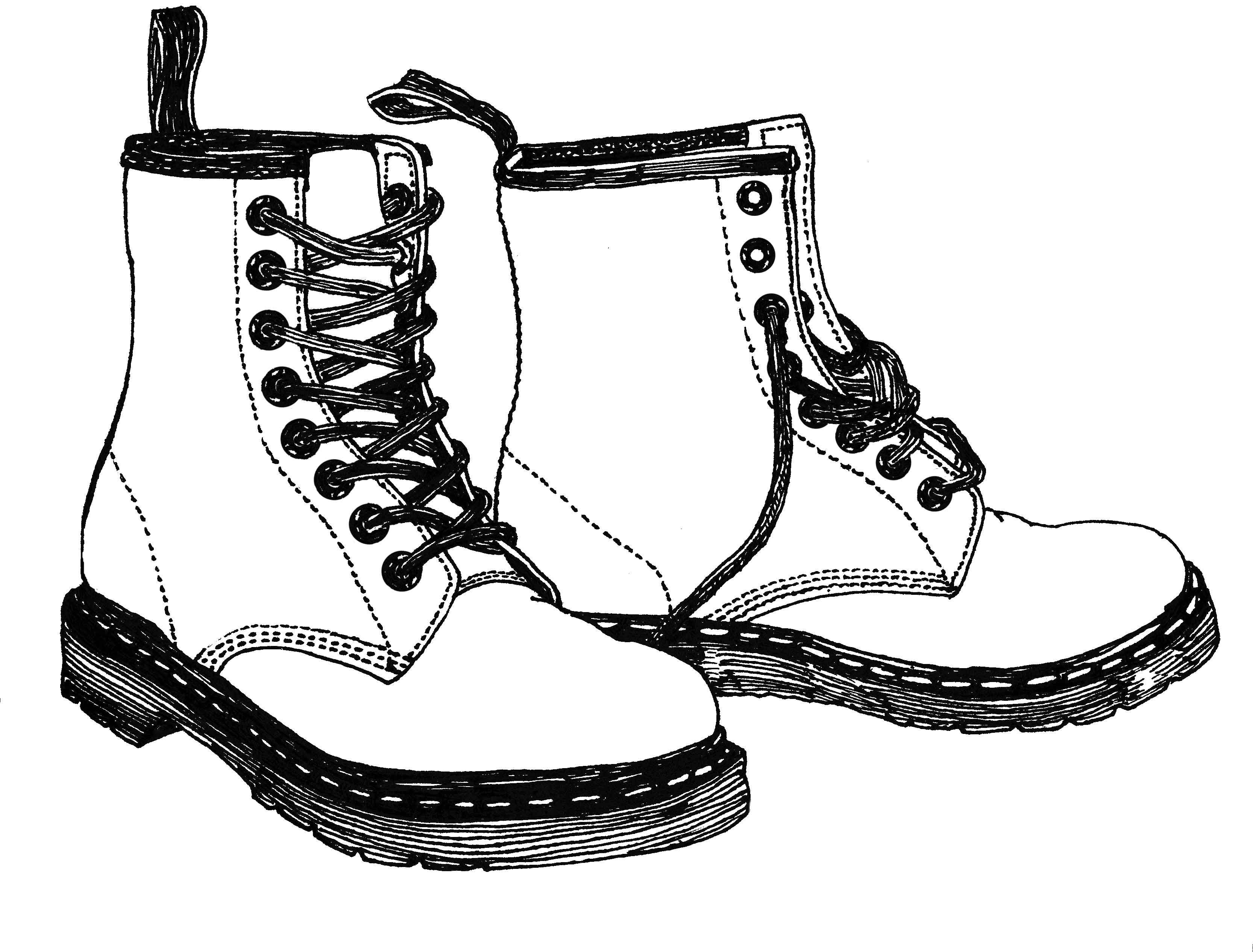 Drawing Combat Boots