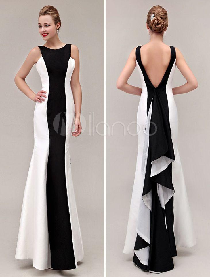 Cor bloco vestido sereia VBack babados tafetá vestido de baile