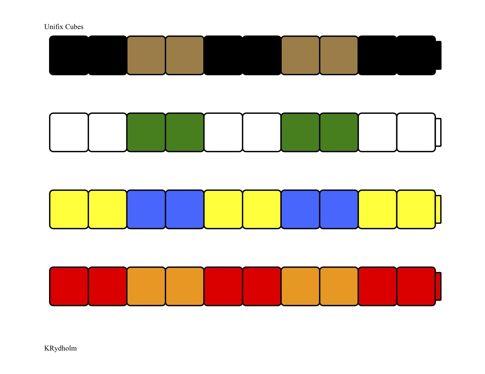 Unifix Patterns 2