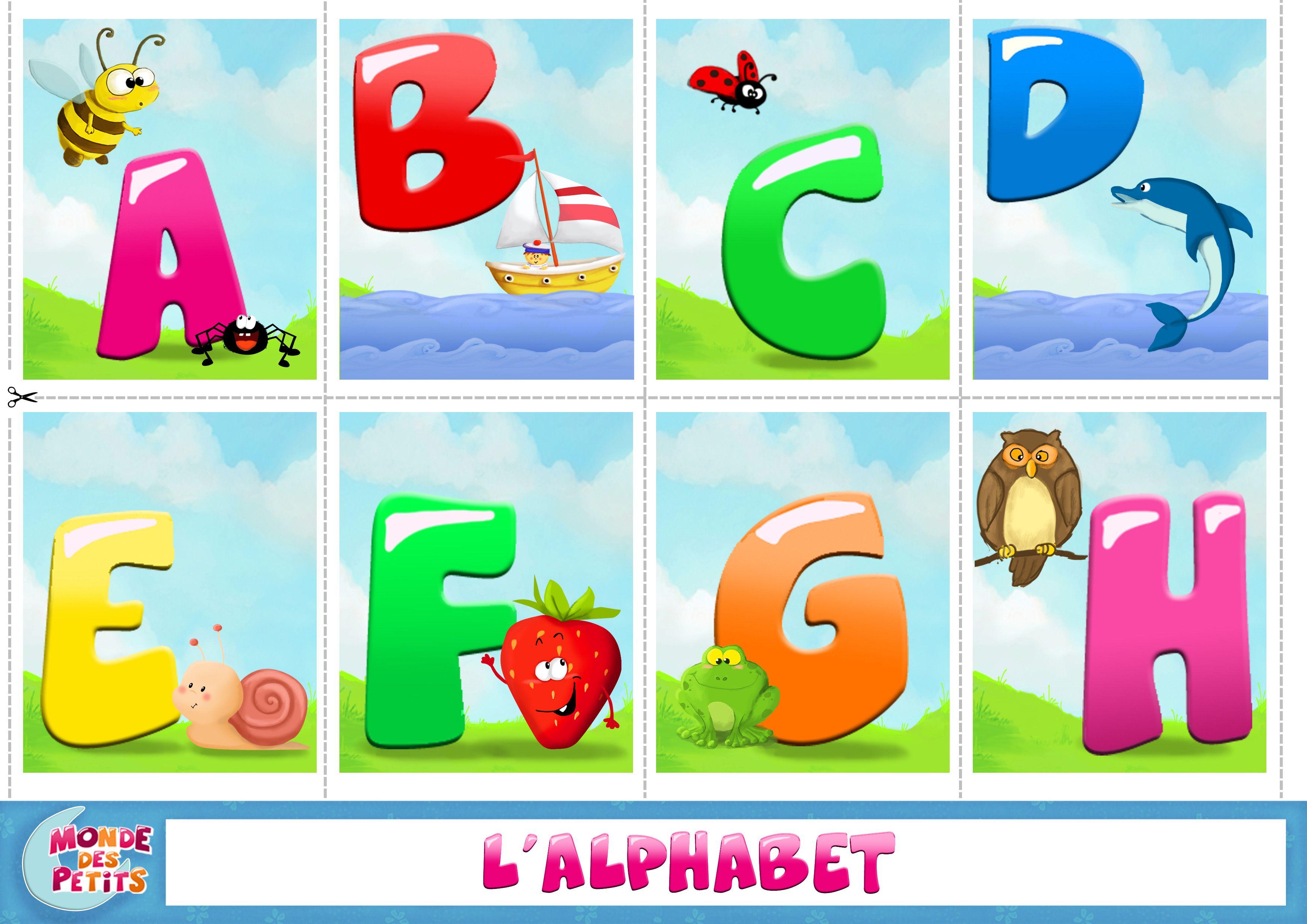 Carte A Imprimer Apprendre L Alphabet
