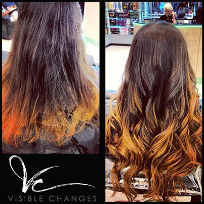 this damaged ombre has been revived frankie repaired her hair and replaced the ombre with