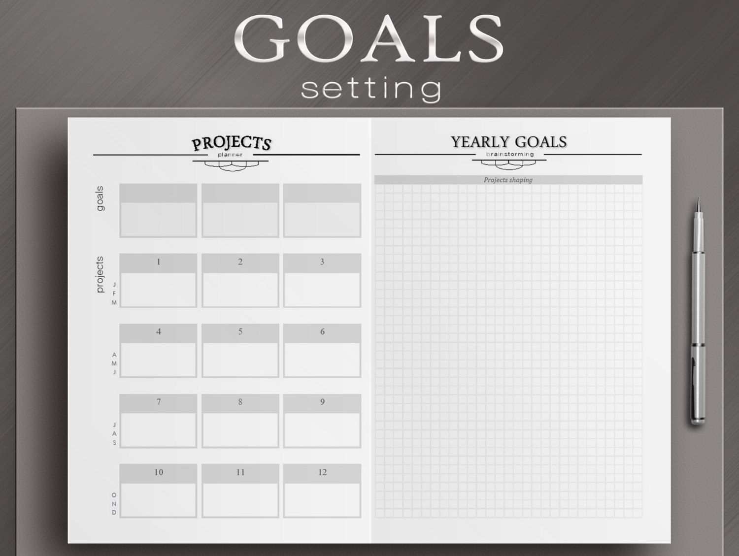Yearly Review And Goals Setting Worksheets 3 By