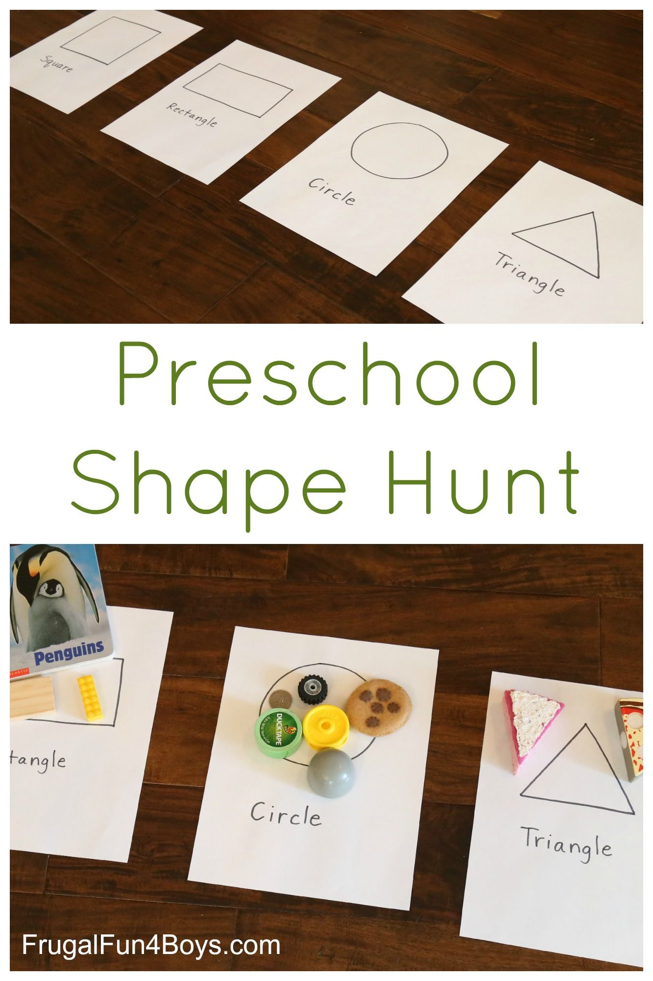 Preschool Shape Scavenger Hunt
