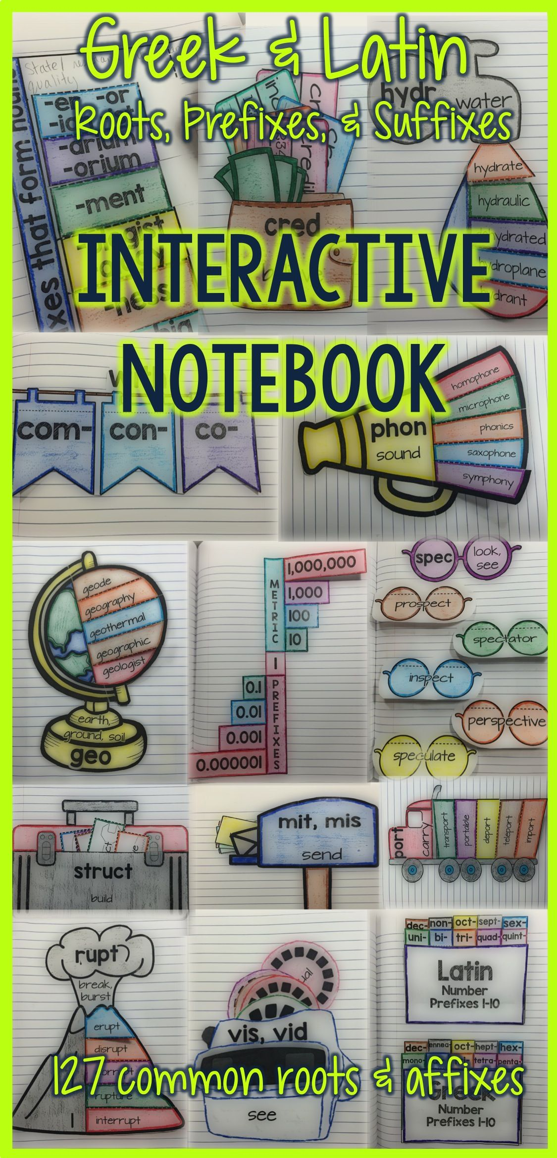Greek And Latin Roots Vocabulary Activities Interactive Notebook