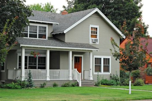 Favorite Paint Colors Exterior Main Copley Gray By Benjamin Moore Trim Seapearl Would Like This With A Red Door