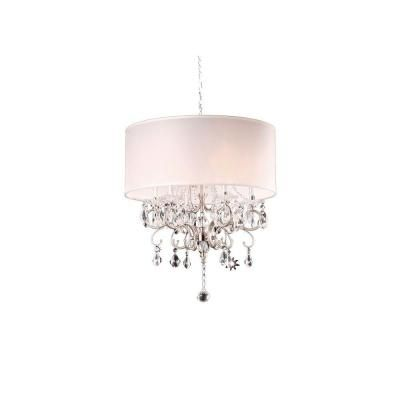 Silver Crystal Chandelier Ok 5109h At The Home Depot