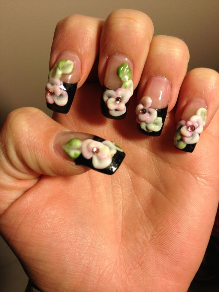 My old floral D nails Nail Gala Pinterest