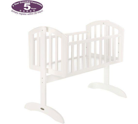 Obaby Sophie Swinging Crib And Mattress White At Argos Co Uk