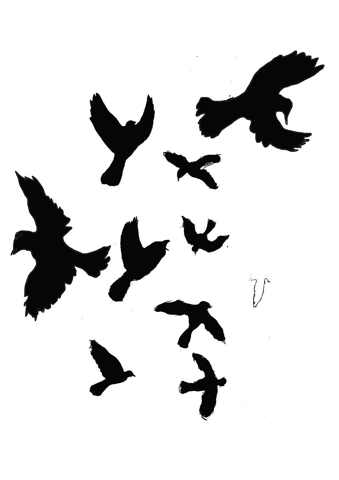 Tomcharlesworth Mocking Bird Silhouettes For Sleeve