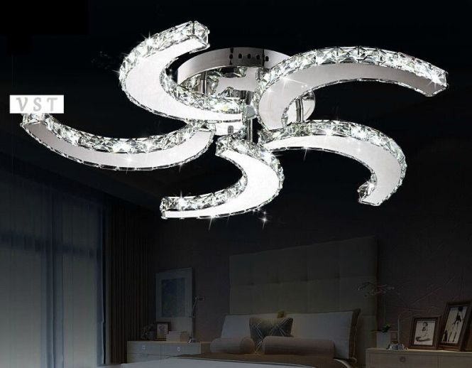 Ceiling Fan Chandelier Combo Free Shipping Modern Crystal Home Lighting Led