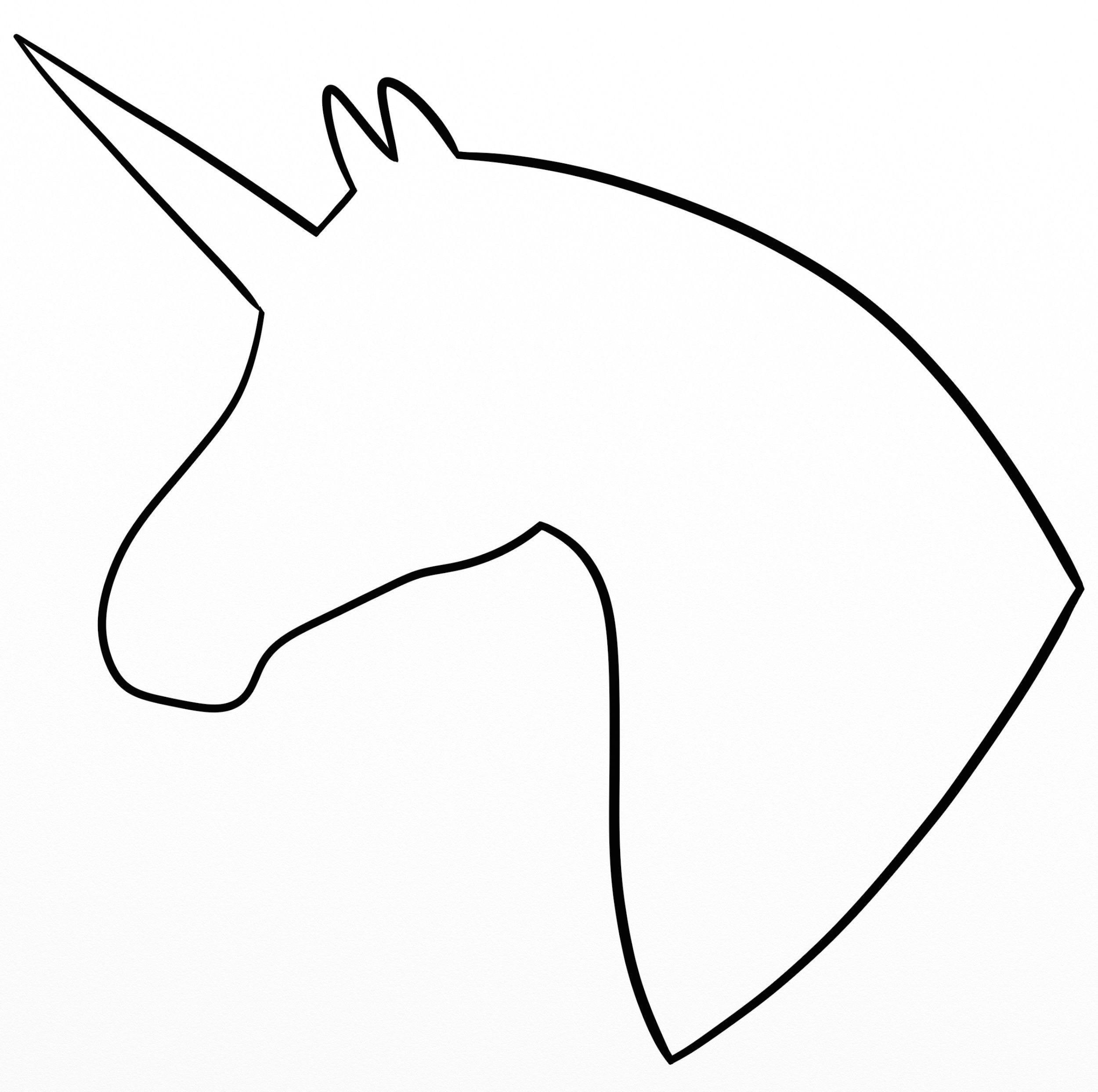 Unicorn Head Silhouette