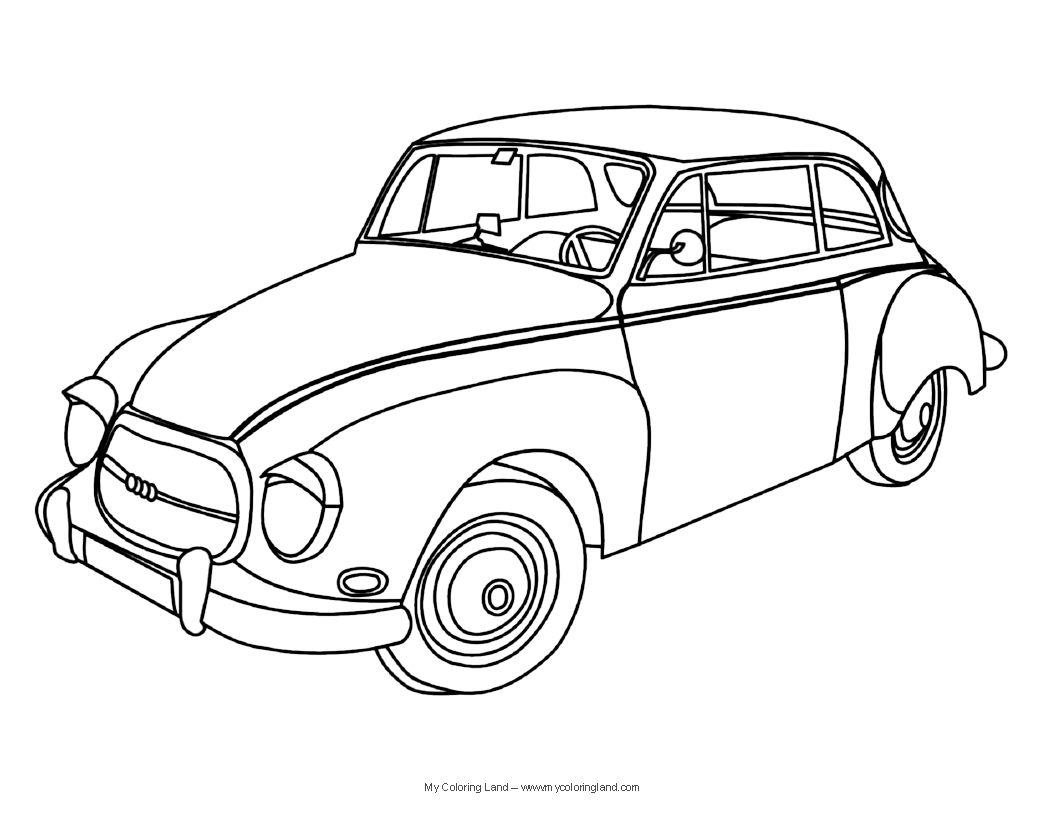 Classic Cars Sheet 1056×816 Children