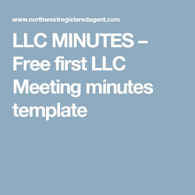 llc meeting minutes