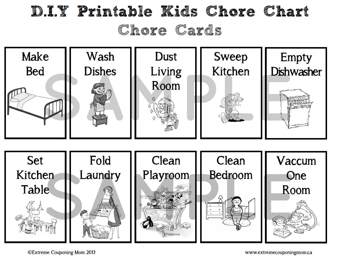 Printable Chore Chart For Kids