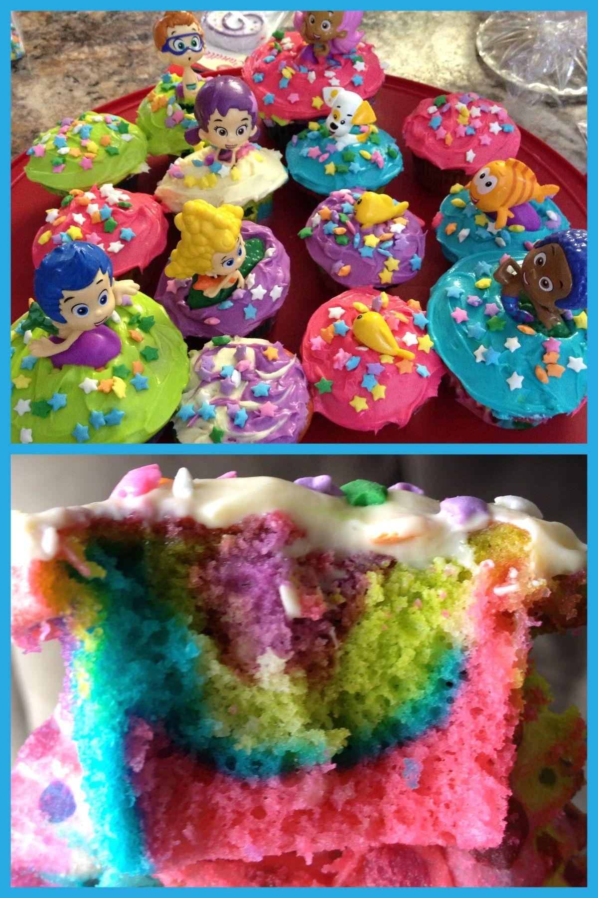 Rainbow Bubble Guppies Cupcakes