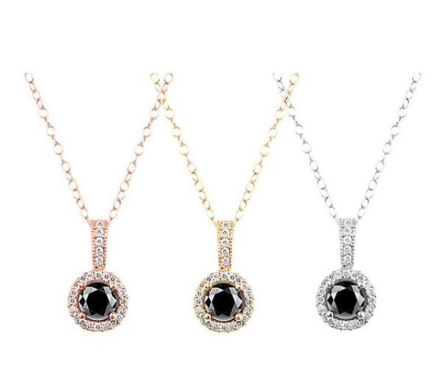 Onna Ehrlich Is Giving Away A Black Diamond Halo Pendant Enter Now For Your Chance