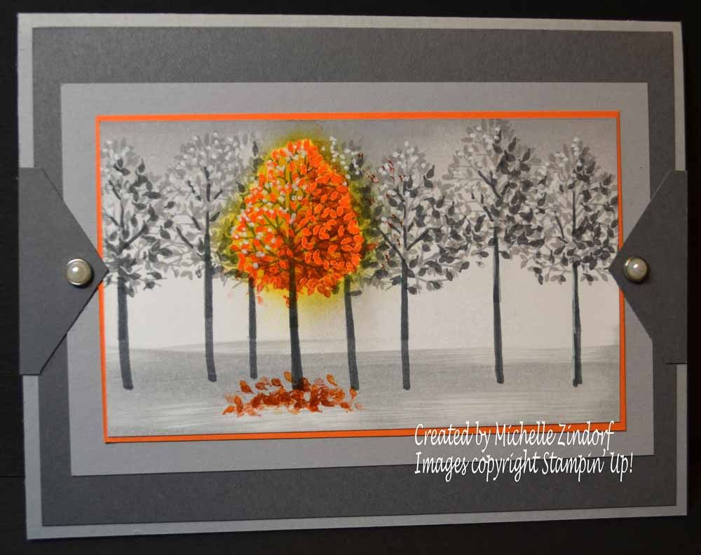 Outstanding Autumn Stampin Up Card Created By Michelle