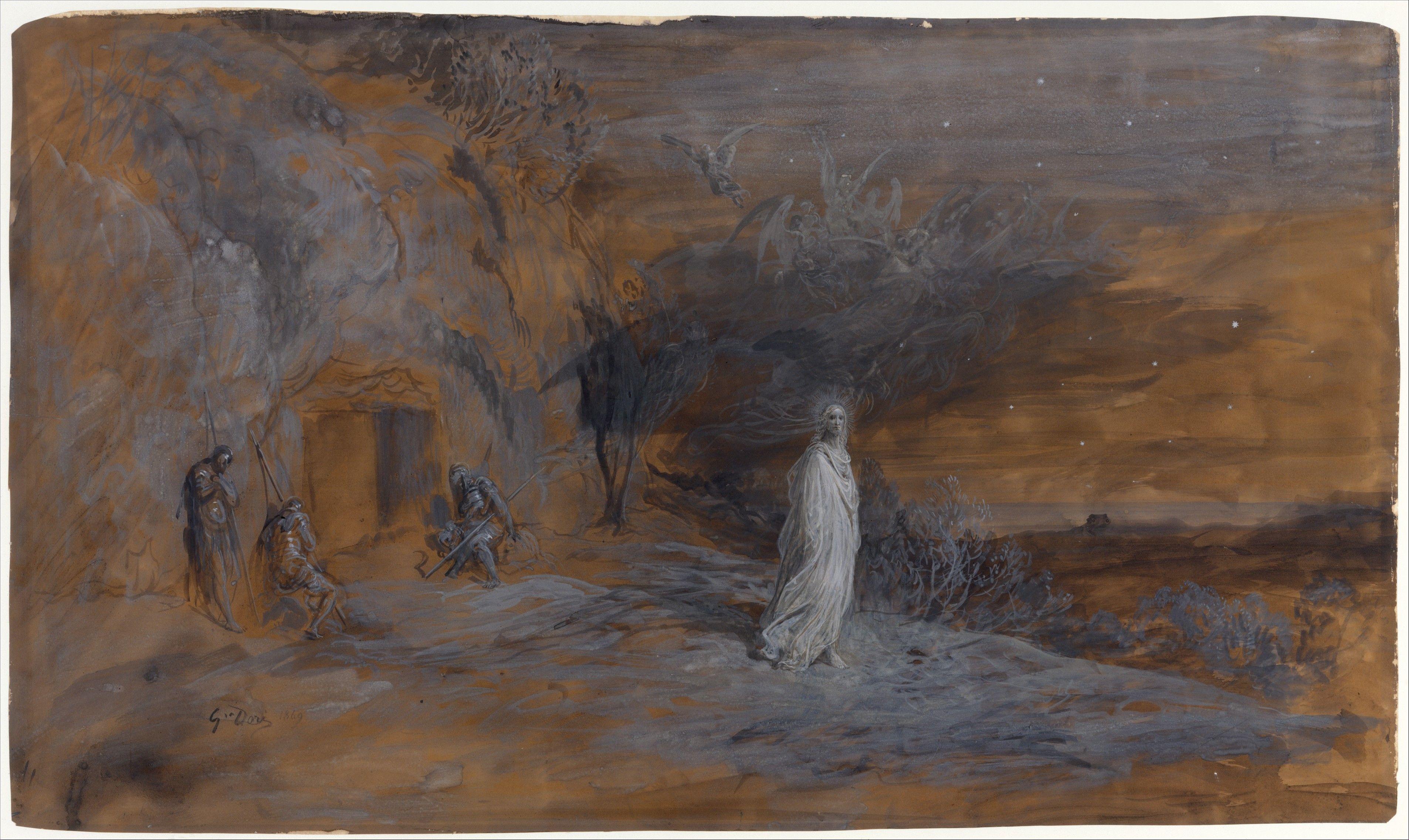Le Christ Sortant Du Tombeau Artist Gustave Dore French Strasbourg Paris Date