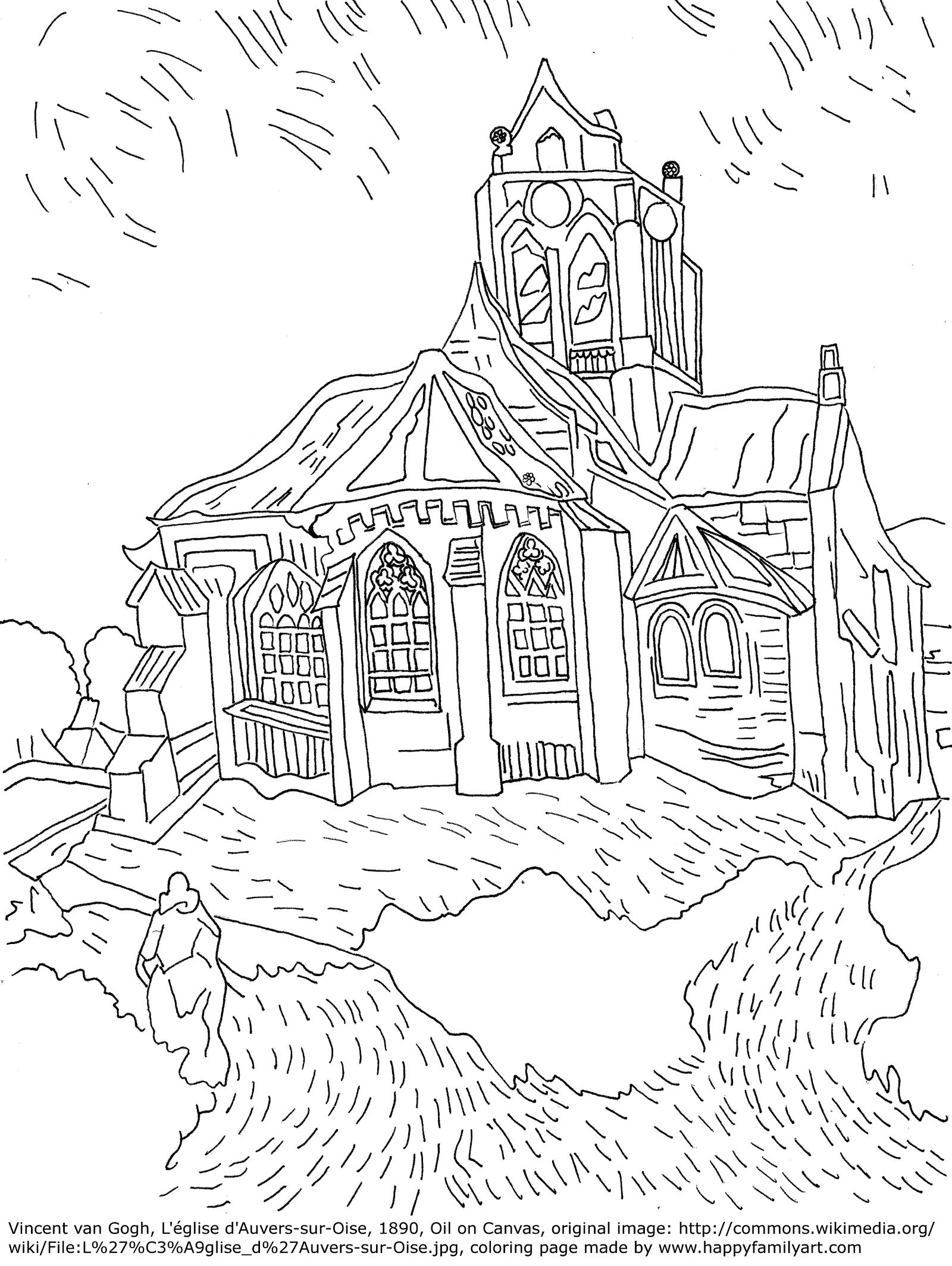 Famous Paintings Coloring Pages Please Make Sure To Know