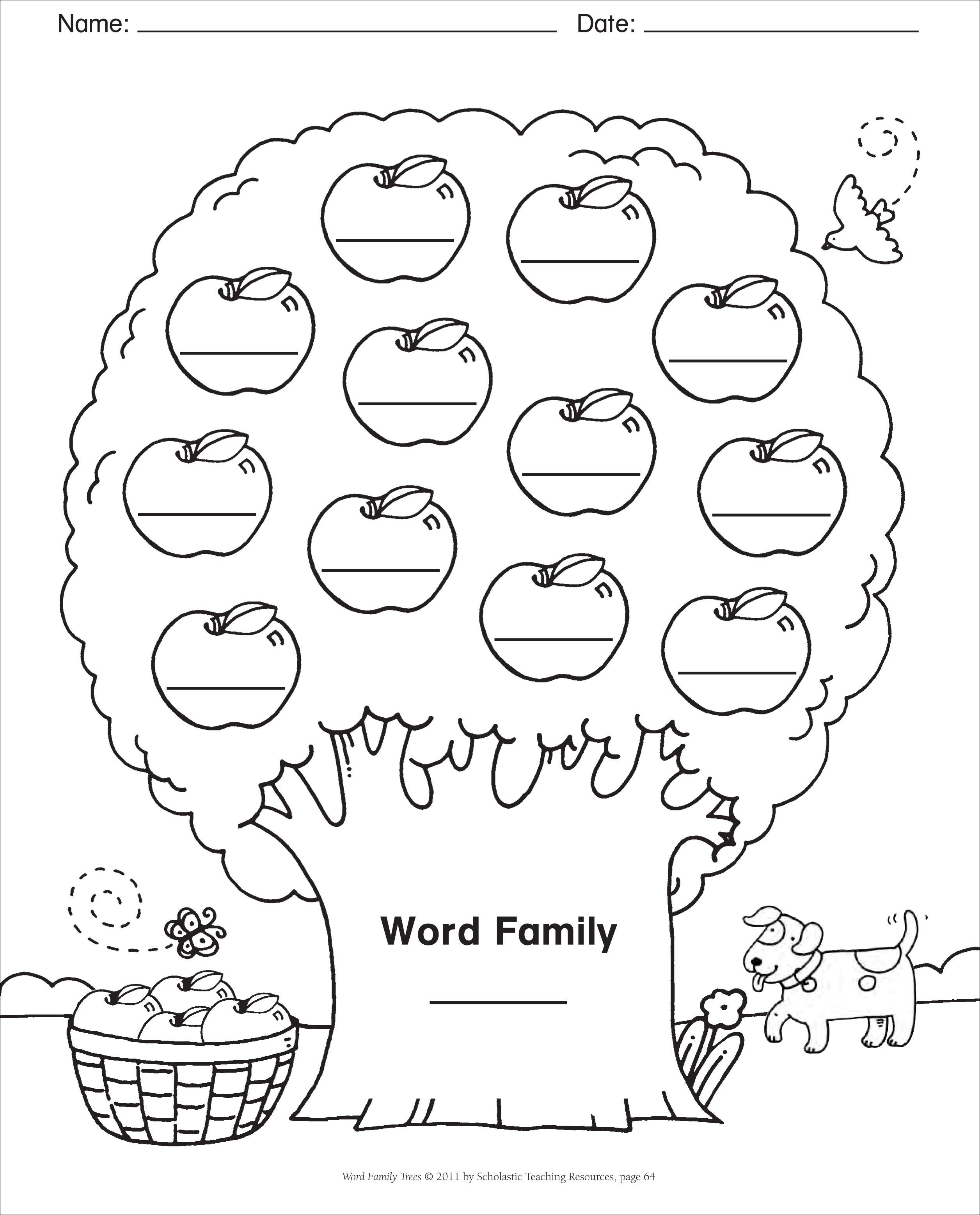 Word Family Template
