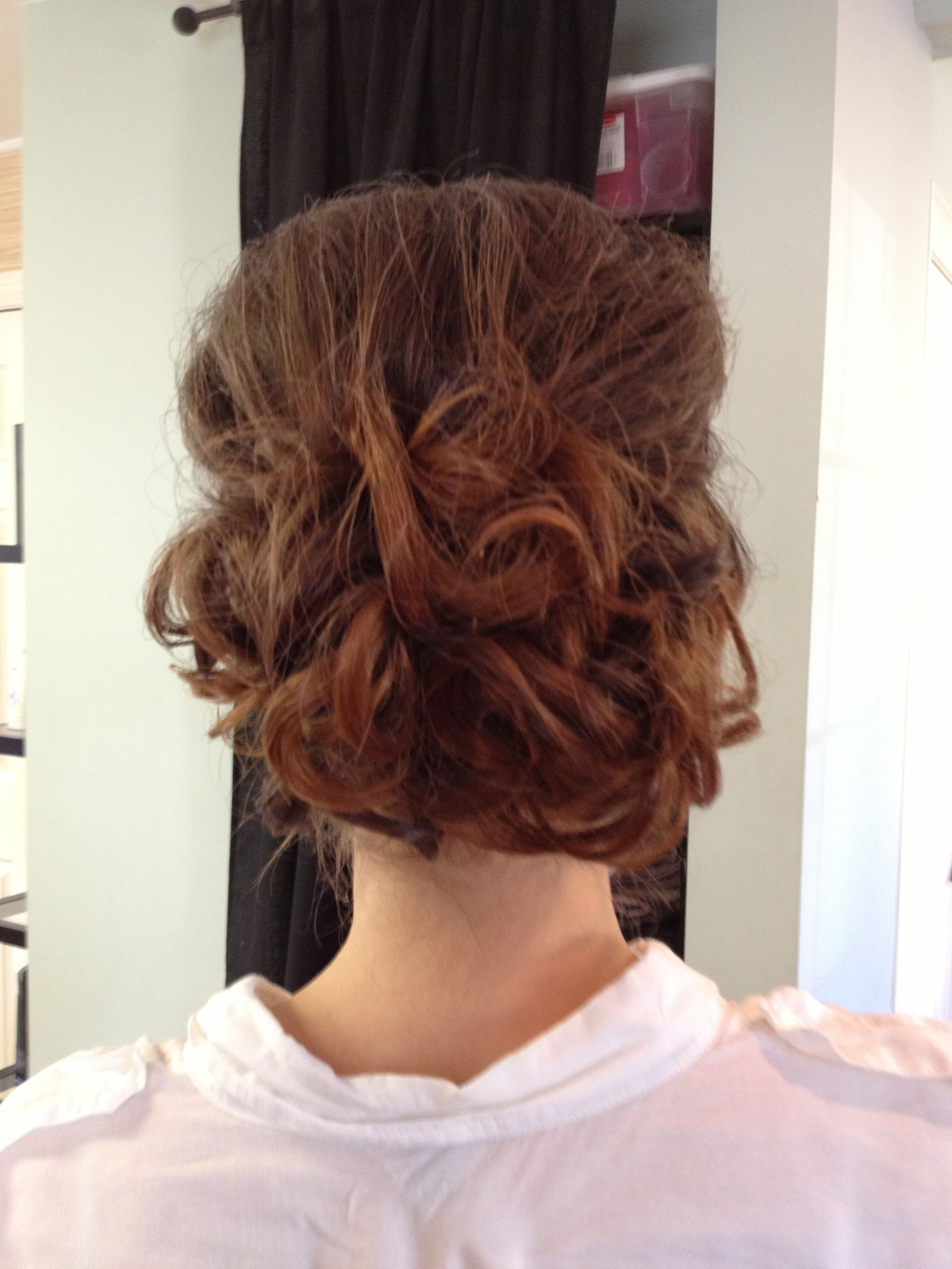 Low chignon with ombré colour Colour and style done by Elaine