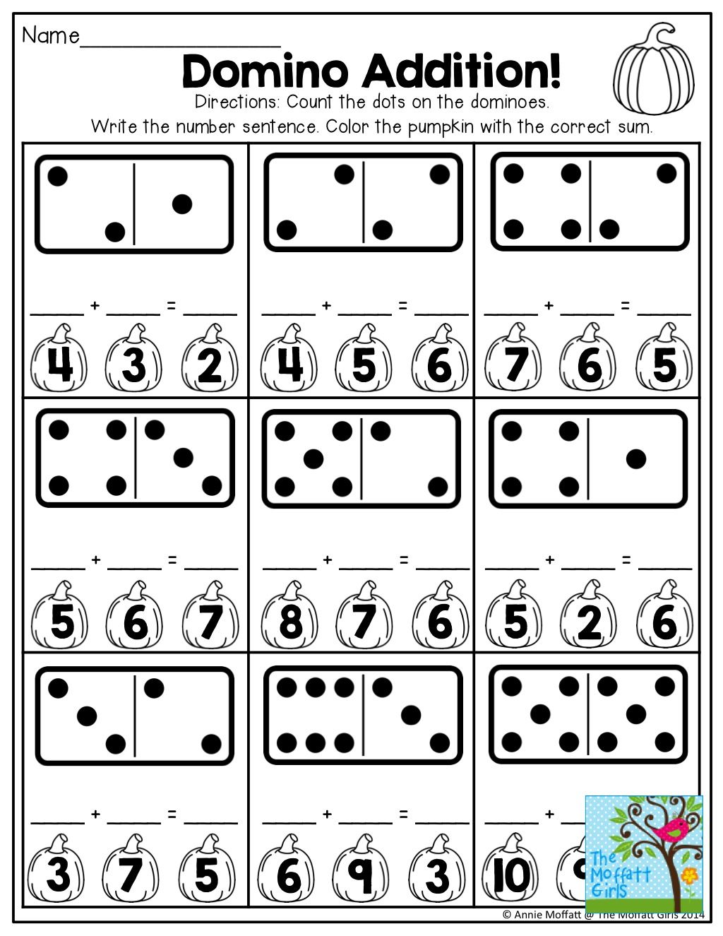 Domino Addition And Tons Of Other Fun Printables For