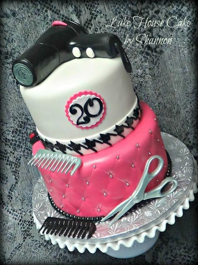 Hair Stylists Birthday Cake Cake By LakeHouseCakebyShannon Party Cakes Pinterest