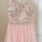 Pink wedding dress short in front long in back  Party Dress Homecoming or Prom  Homecoming Prom and High low