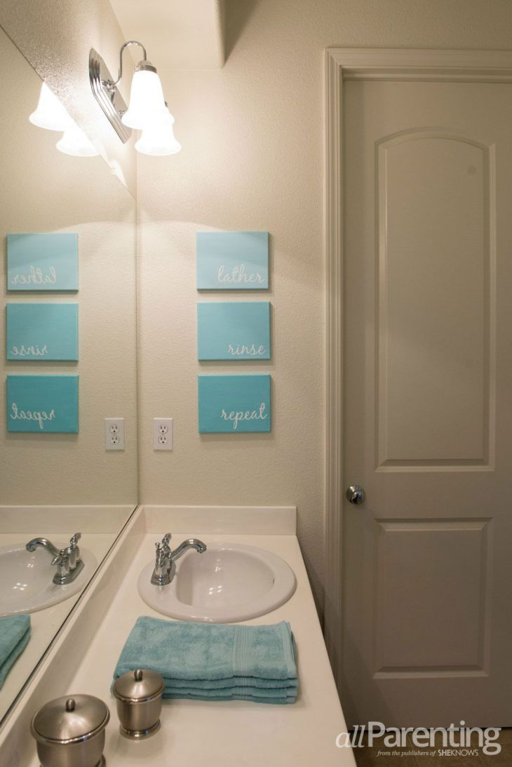 Lovely bathroom canvas art This is going in my next bathroom via