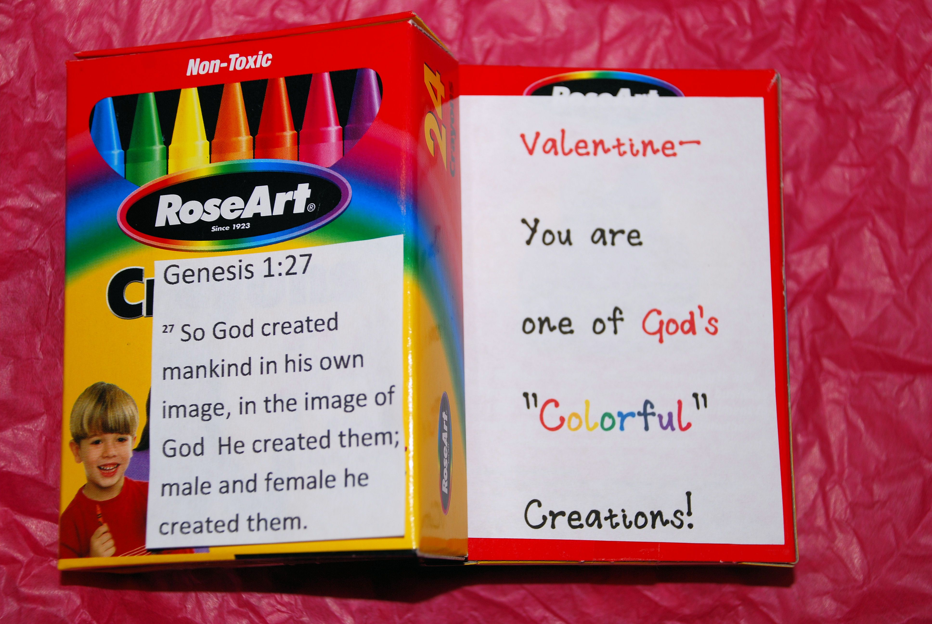 Valentine S Day Cards For Sunday School Crayons With A