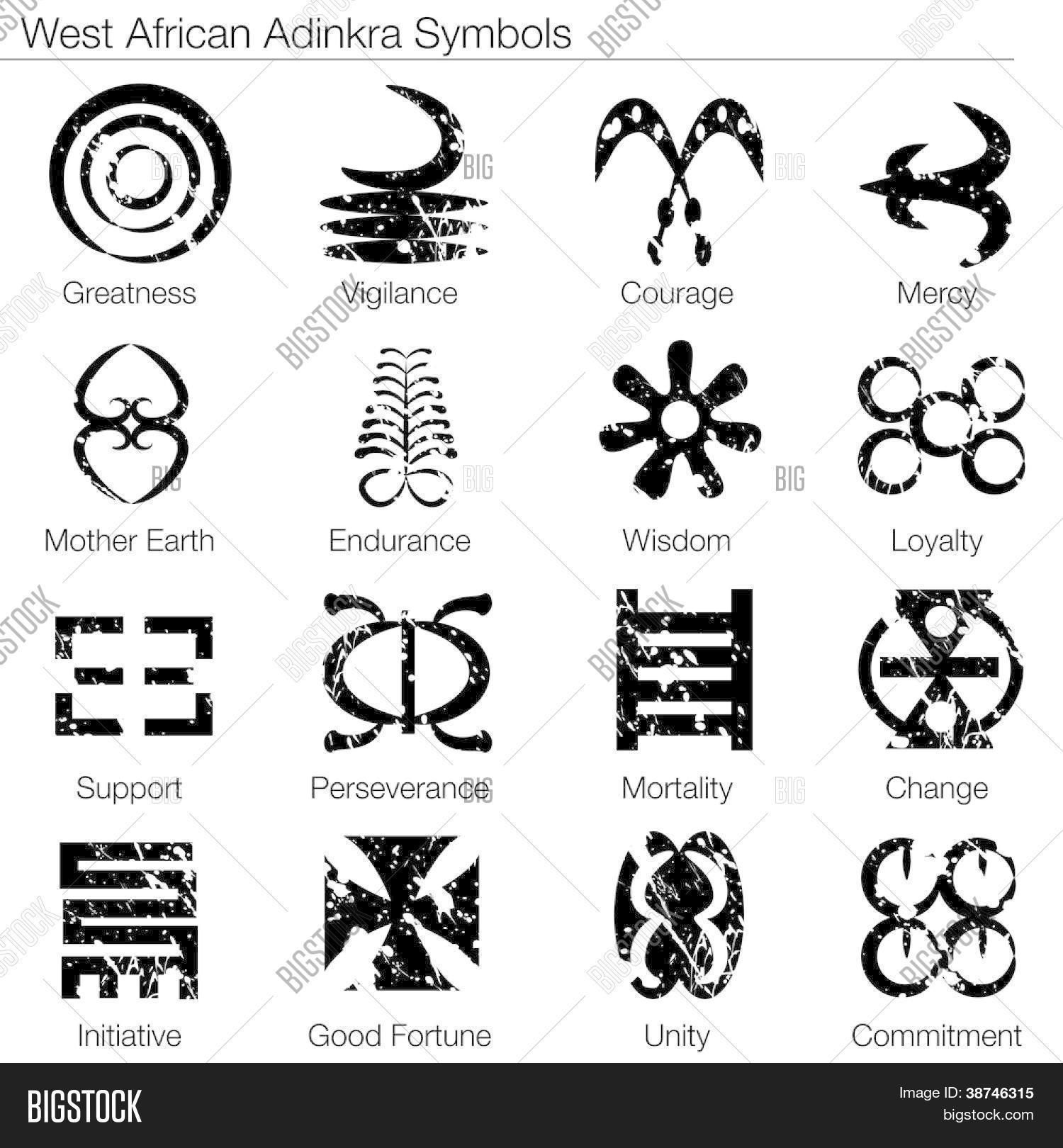 Uma Imagem De Um Simbolos Adinkra Oeste Africano