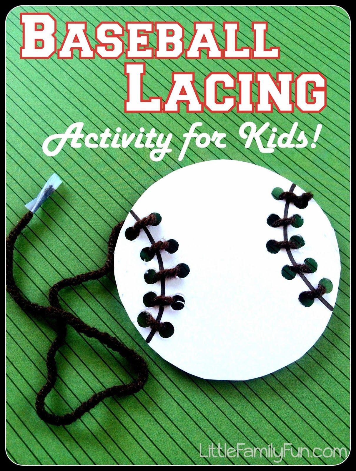 Baseball Lacing Activity For Kids Great Fine Motor Skills