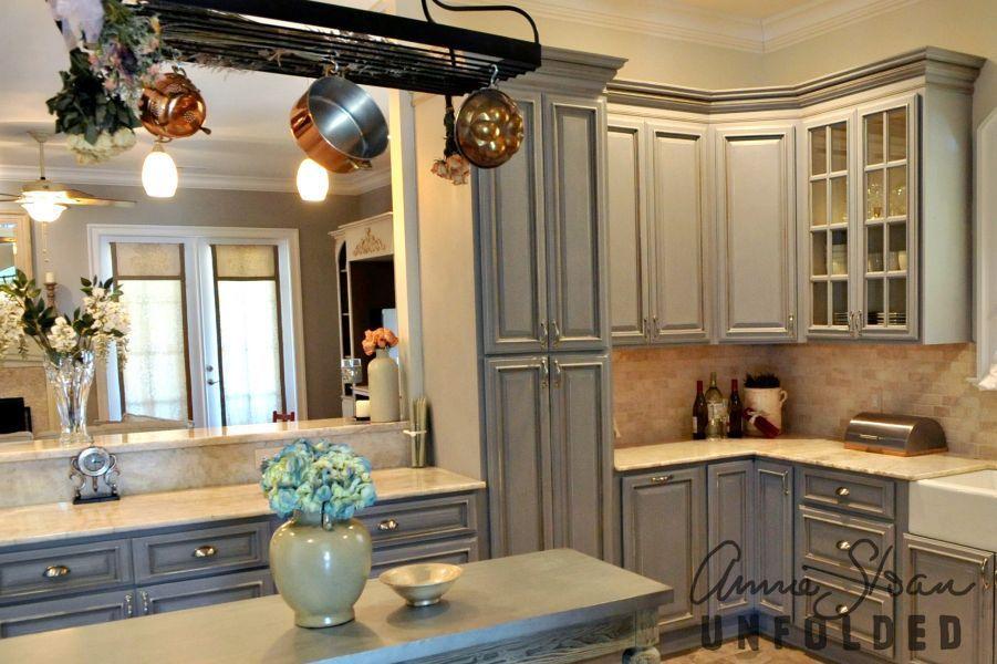 Paris Grey Chalk Paint Kitchen Cabinets Novocom Top