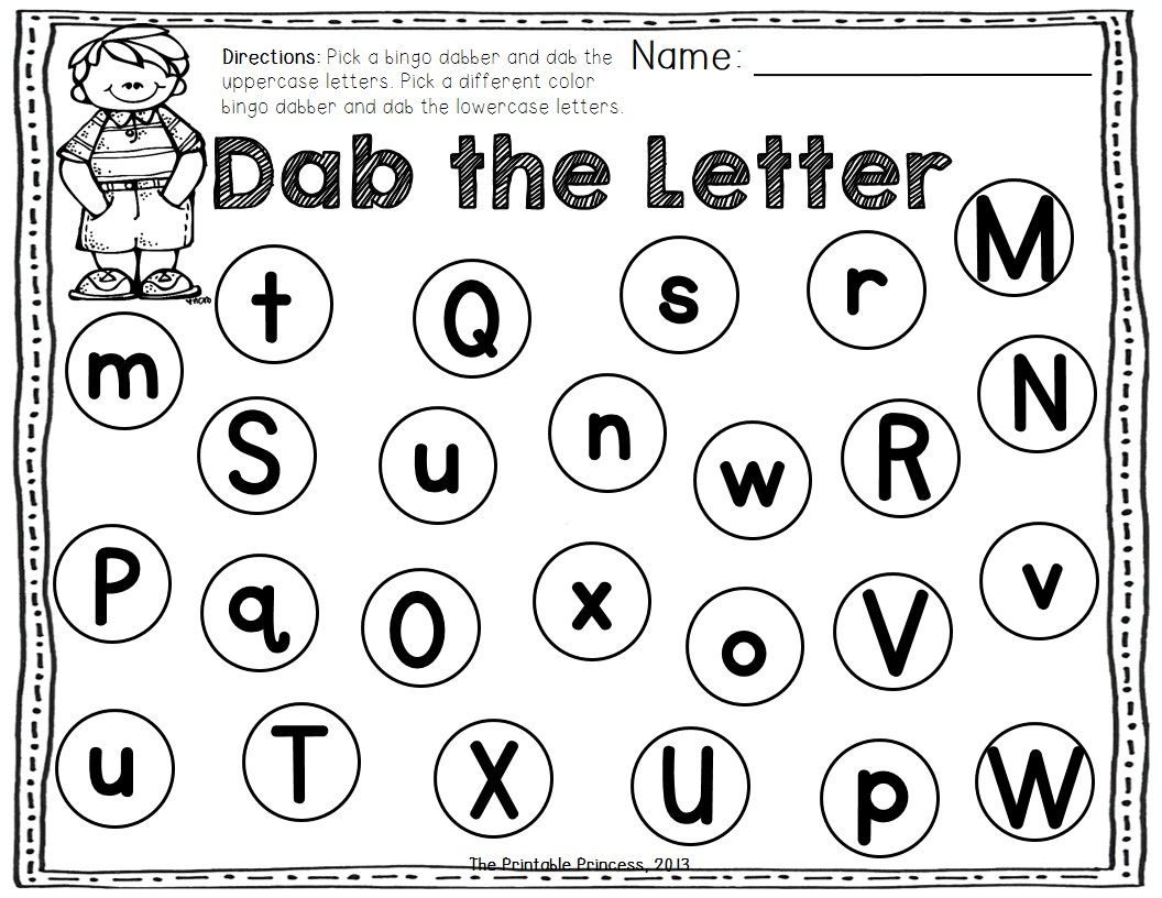 Letter I Worksheet Dauber