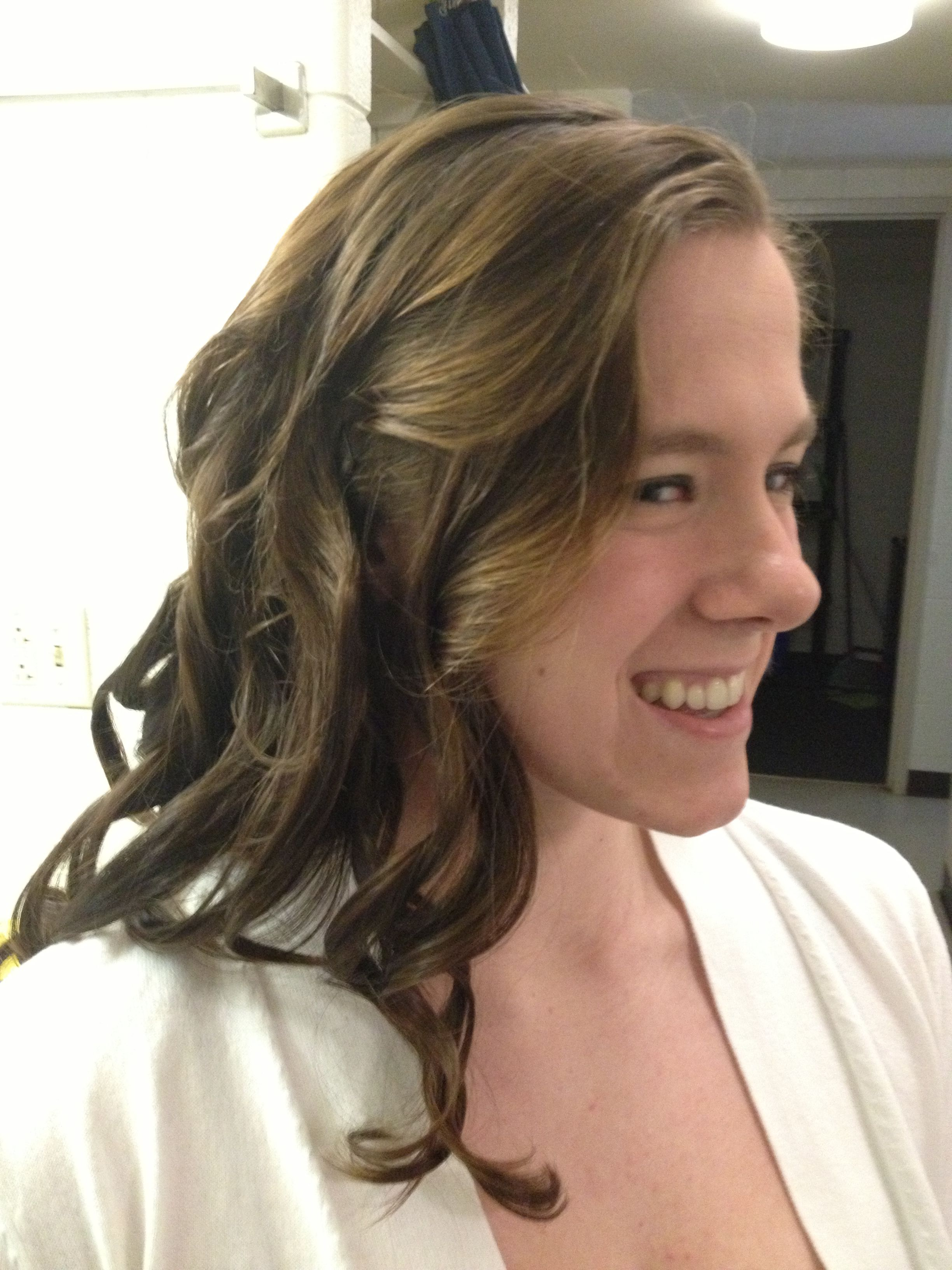 Loose curls for a banquet By Cas s Hair Design