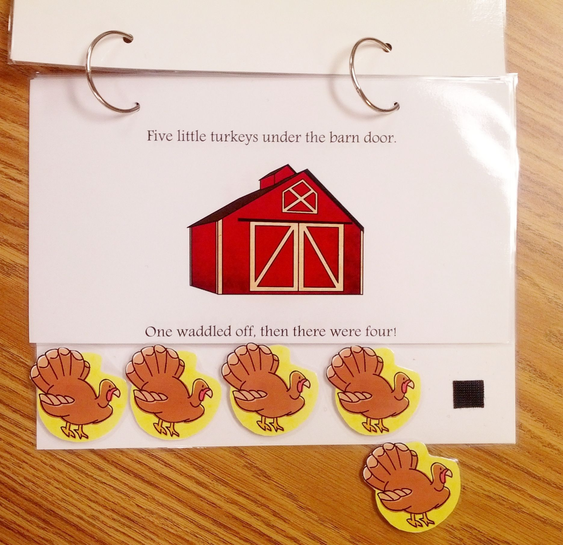 Five Little Turkeys On Teach Early Autism Free Downloaded Adapted Book
