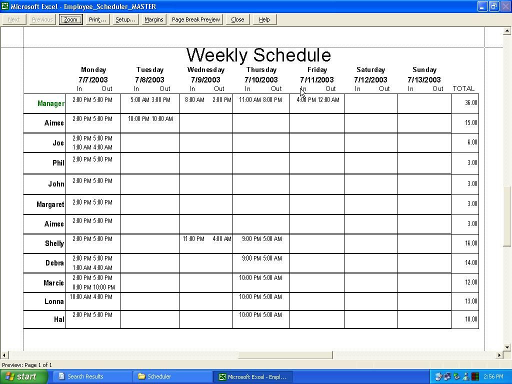 Schedule A Worksheet