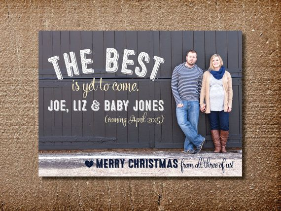 pregnancy announcement new year cards merry christmas and happy