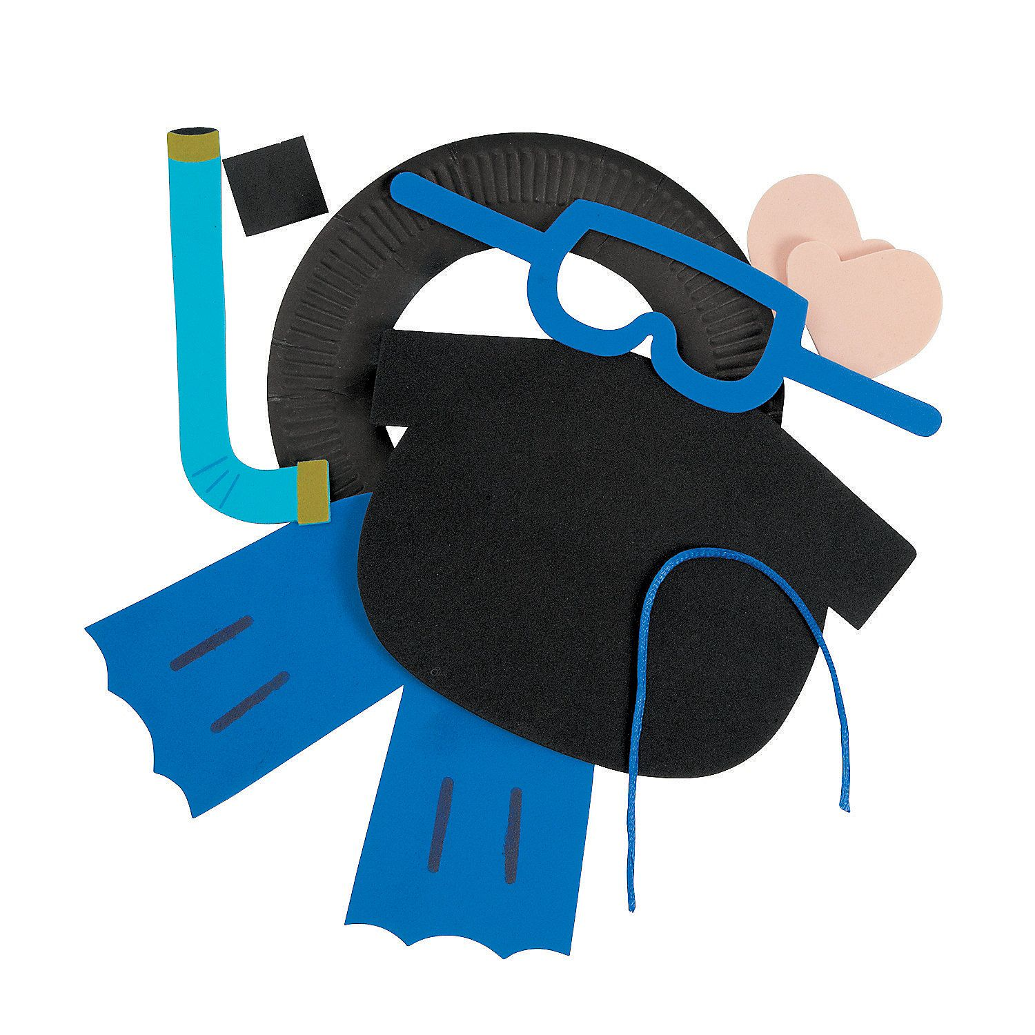 Paper Plate Scuba Diver Picture Frame Craft Kit
