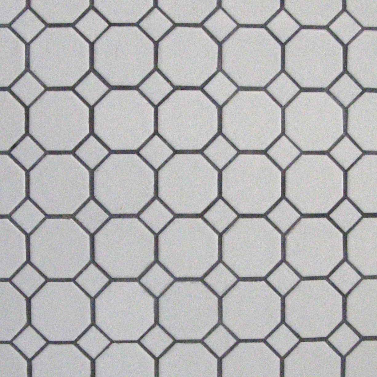 We Chose Simple Black And White Hexagon Tile Floors For